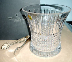 Waterford Lismore Diamond Ice Bucket With Tongs Made in Ireland 165642 NEW - $368.90