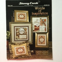 Stoney Creek Book Words Of Inspiration Counted Cross Stitch 5 Patterns - $8.90