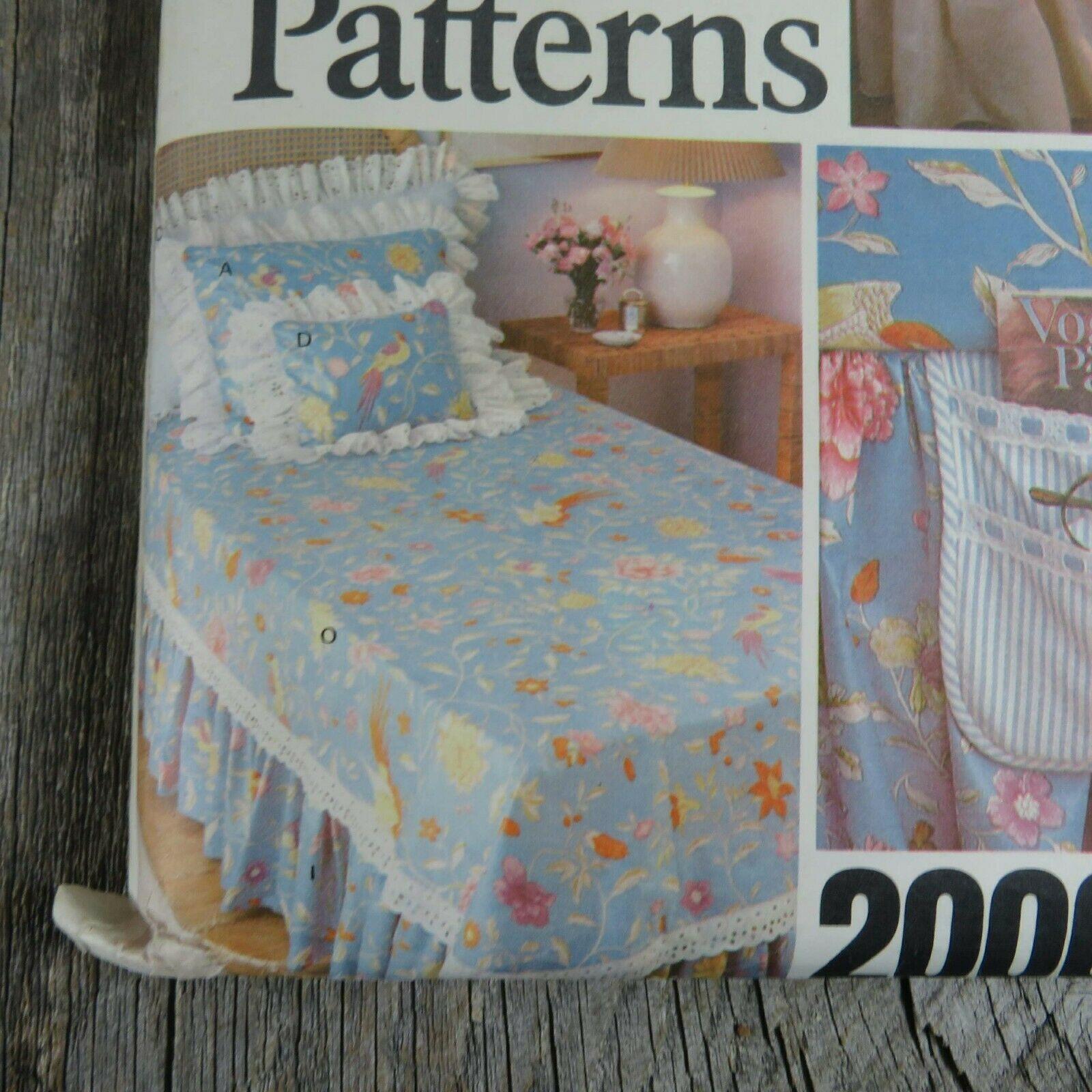 Vintage Vogue Bedspread Linen Sewing Pattern Bedroom Sham Pillow Bed Covers image 5