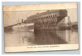 Vintage Early 1900's Beaver Hill Coal Bunkers & Ship Marshfield Oregon P... - $15.81