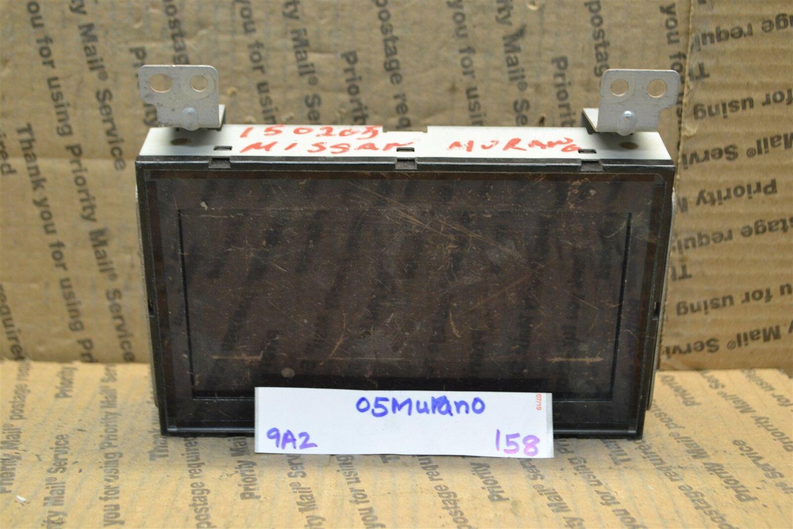 2005 Nissan Murano Dash information Display Screen 28090CB800 OEM 158-9A2 - $13.99