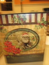 CHRISTMAS SANTA CLAUS SQUARE METAL BASKET BRAND NEW - $191,81 MXN