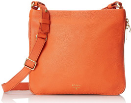 FOSSIL® All Leather Crossbody Bag- Monarch (orange) - $79.90