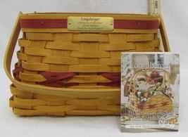 Longaberger Deck The Halls Basket Christmas Collection 2000 Red Trim # 17639 - $20.68