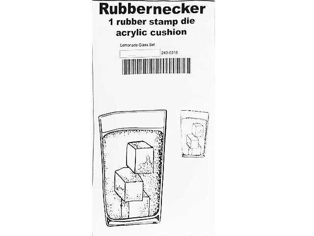 Rubbernecker Stamps Lemonade Glass Rubber Stamp Set #243-0318