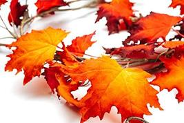 CraftMore Fiery Maple Fall Leaf Garland 6' image 4