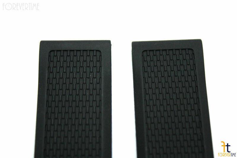 22mm Heavy Italian Textured Rubber Black Watch BAND Strap FITS Luminox EVO