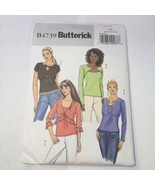 Butterick 4739 Size 6-12 Misses' Shrug and Top - $11.64