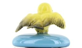 Stepping Stones Fairy Garden Terrarium Miniature Bird Canary Landing Turquoise image 6