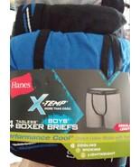 Hanes X-Temp Boy's 4-Pack Tagless Boxer Brief Underwear Size Small 6-8 - $15.79