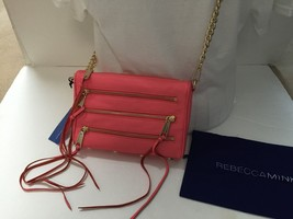 REBECCA MINKOFF Watermelon Mini 5 Zip Shoulder Bag Purse FREE SHIPPING - $99.99