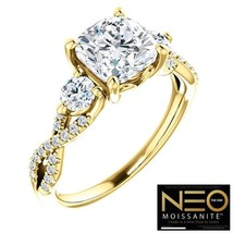 2.50 Carat (7mm) NEO Moissanite Cushion Ring in 14K Gold (with NEO warra... - $1,699.00