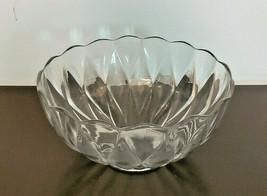 "Vintage Heisey Diamond Pattern 10"" Glass Punch Bowl - $69.30"