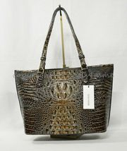 NWT Brahmin Medium Asher Embossed Leather Tote/Shoulder Bag in Chicory Melbourne image 7