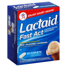 Lactaid Fast Act Lactase Enzyme Supplement, 32 ... - $11.28