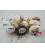 Lot of 12 Eyelash + Other Style Yarn Variety of Neutral Colors - $29.44
