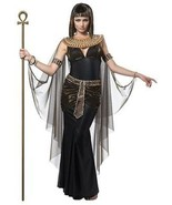 Adult Womens Cleopatra Queen Egyptian Pharaoh History Halloween Costume ... - $53.83