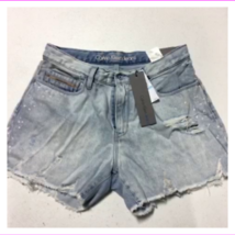 Calvin Klein Jeans ladie's Denim Splatter-Print Cutoff Ripped 5-pocket Shorts - $30.26