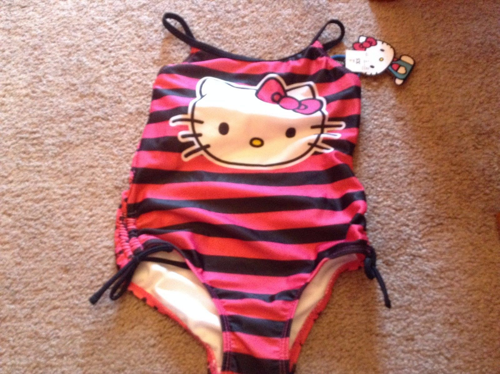7e75bd84d8 Hello Kitty Pink Black Stripe One Piece and 37 similar items