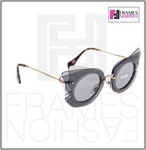 MIU MIU Overlapping Game 02S Grey Silver Mirrored Butterfly Sunglasses MU02SS image 5