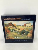 Linda Nelson Stocks Fall on the Farm Jigsaw Puzzle 550 pieces, 24 x 18 Sealed - $12.19