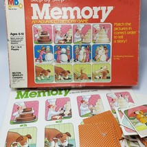 Step By Step Advanced Memory Game 1983 Milton Bradley 4305 Sequence Prereading - $7.92