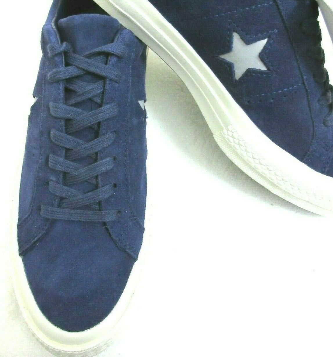 Converse One Star Ox Mens Midnight Indigo Purple Silver Suede Shoes Size 8 New  image 3