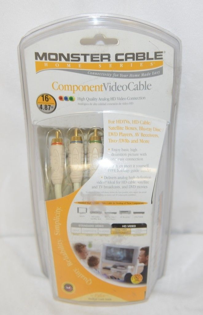 Monster HS V100 CV16 Home Series Component Video Cable 16 feet