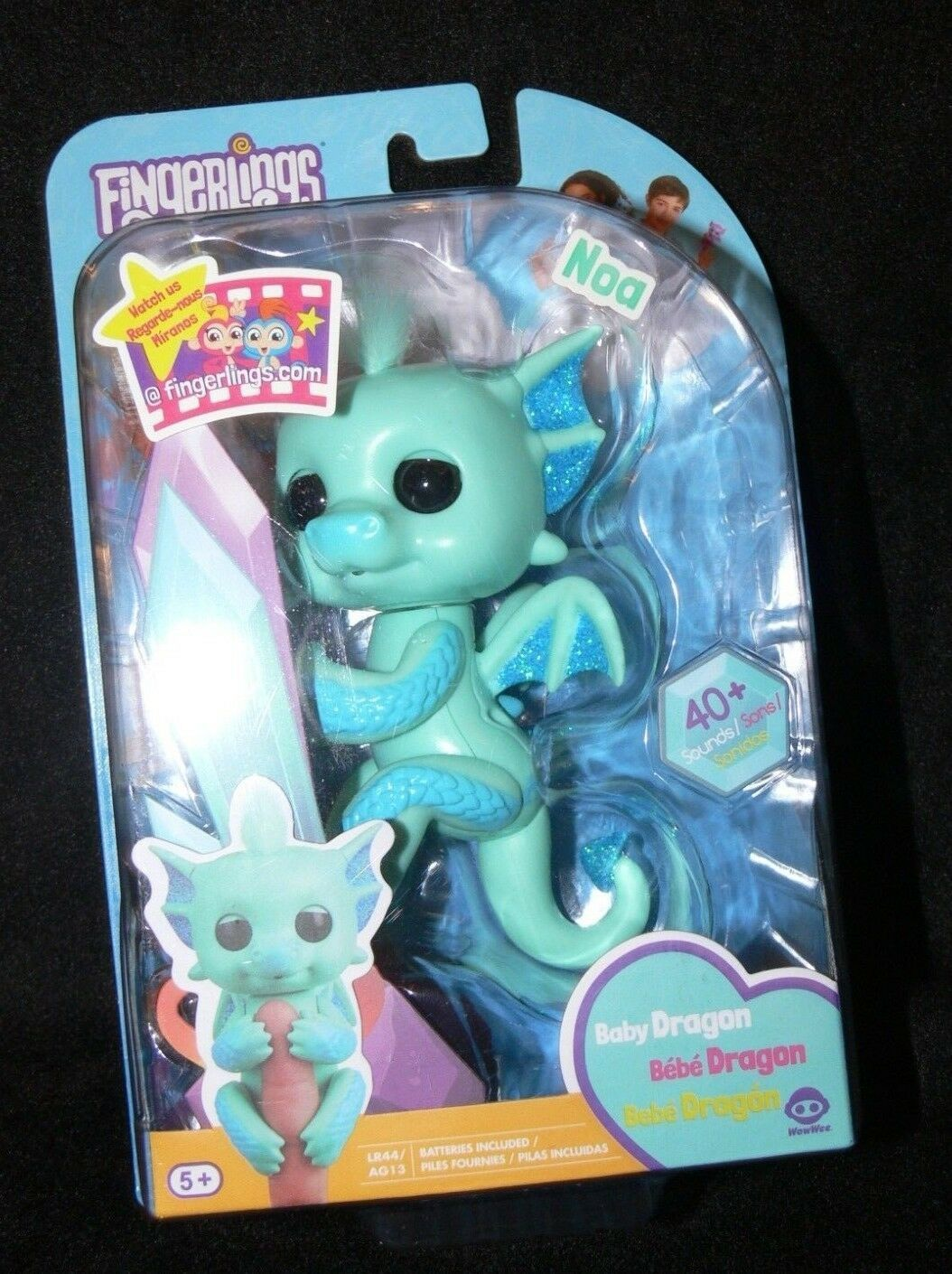 Fingerlings Baby Dragon NOA Blue Green WowWee New