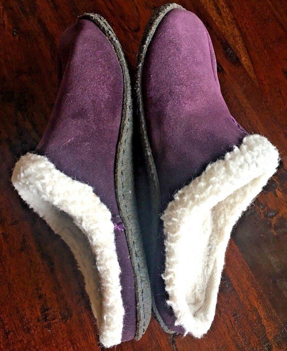 SOREL 9381 Womens Nakiska LILAC Purple Suede Clog Slippers Shoes 6 M #176 image 6