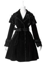 NEW Pyon Pyon Gothic Jacket Coat Black Velveteen LY034 FAST POSTAGE - $85.61