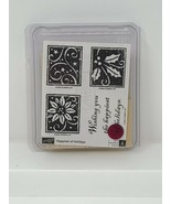 Stampin' Up! Happiest Of Holidays Stamp Set of 4 2004 - $19.79