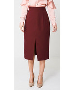 Burgundy / Red Tailored Pencil Skirt Sizes : 4, 6, 8, 10, 12, 14, 16, 18... - $14.11