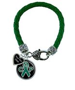 Holly Road Cerebral Palsy Awareness Green Leather Bracelet Jewelry Choos... - $19.79