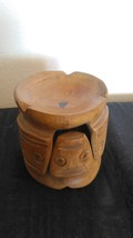 Stonewood ashtray handmade from Dominican Republic manual wood carving s... - $33.66