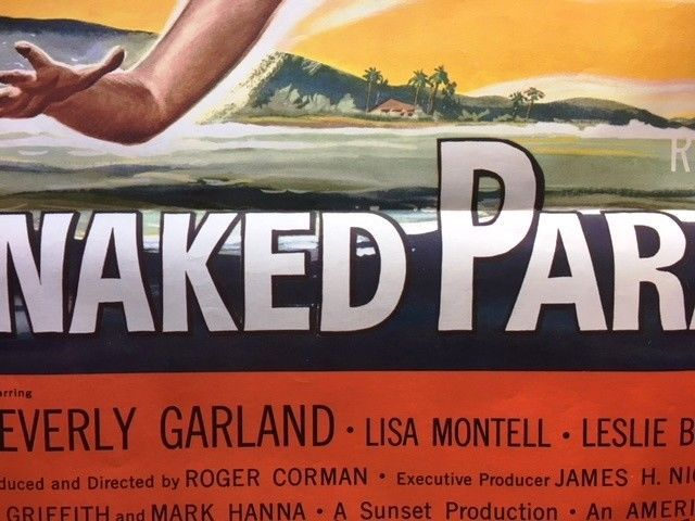 *Roger Corman's NAKED PARADISE (1957) Gangster-Themed Exploitation One-Sheet