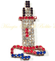 Lighthouse Pin Brooch Multicolor Crystal Silver Tone Metal Large Bold Nautical - $39.99