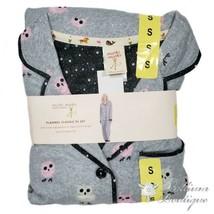 Munki Munki Flannel Women's Pajama Set Gray Owls Ladies PJ Set Large NWT! - $74.20