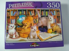 Library Lessons for Kittens Cats at Play Study Fun Jigsaw Puzzles 350 Pi... - $10.89