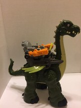 Fisher Price Imaginext Mega Apatosaurus Walks Roars Dinosaur Harness Green - $14.95