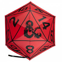 Dungeons & Dragons Dice Umbrella Red - $35.98