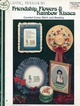 Friendship Flowers & Rainbow Kisses June Grigg Beading Cross Stitch Pattern - $2.67