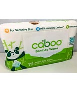 Caboo Bamboo Baby Wipes Unscented Sensitive Skin 72 Jumbo Wipes Non GMO ... - $7.91