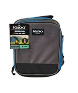 Igloo Maxcold  Insulation Cooler Bag Hold 5 Cans Maximum Gray Black Blue - $13.11