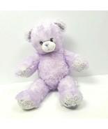 BABW Build A Bear 16'' iCarly Teddy Bear Plush Stuffed Sparkle Violet Pu... - $13.86