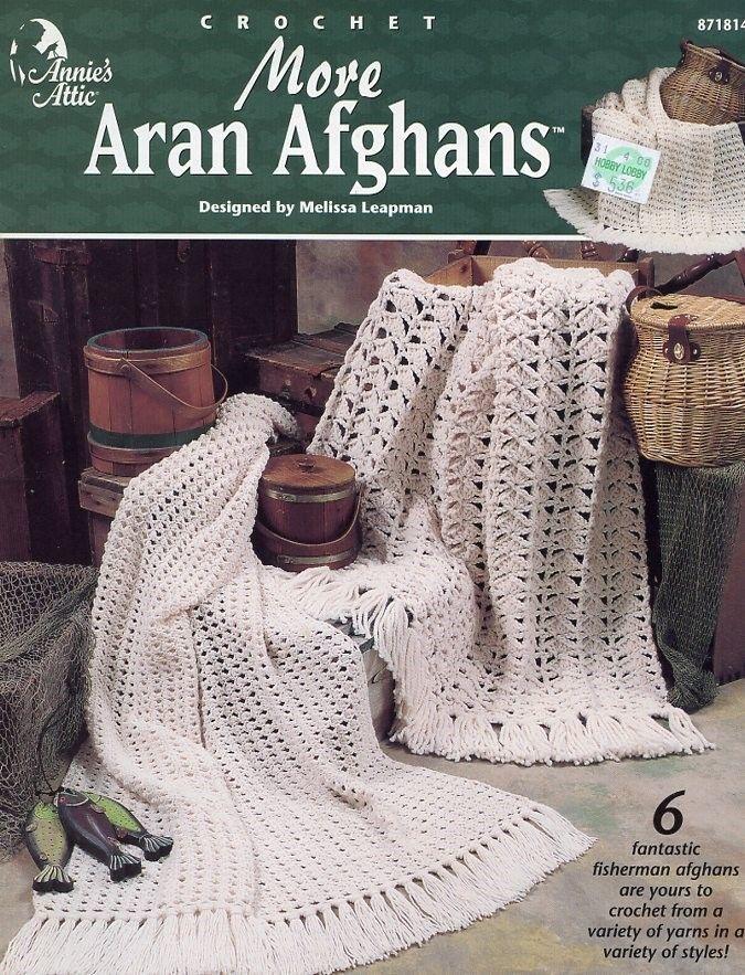 More Aran Afghans 6 Designs Annies Attic And 50 Similar Items