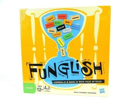 Funglish Family Board Game Express It & Guess It with Piles of Tiles New... - $45.49