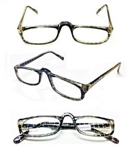 High Bridge Flexible Black Tiger Rectangle Reading Glasses Reader +1.50 ... - $5.95
