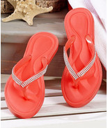 The Lakeside Collection Memory Foam Sandals Bright Coral 7 - $11.97