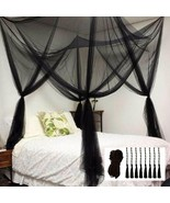 Mosquito NET for Bed Canopy, Four Corner Post Curtains Bed Canopy Elegant - $62.64+